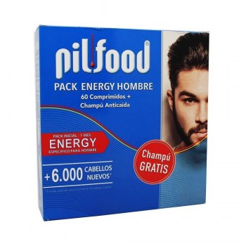 pilfood pack energy hombre 60 comprimidos champu